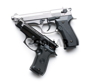 two handguns