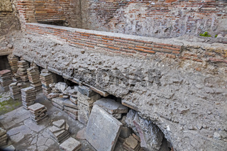 Roman Bathhouse Showing Heating Area Pompeii Campanula Italy