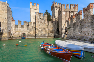 Old castle in Sirmione, Italy.