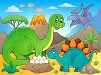 Image with dinosaur thematics 5 - picture illustration.