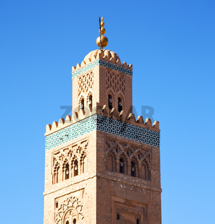 history in maroc africa  minaret religion and the blue     sky