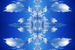 Blue reflected clouds background