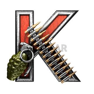 k military letter. 3D illustration