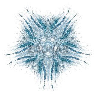 Illustration einer Schneeflocke