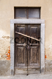 abstract    closed wood door  albizzate varese italy