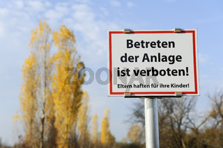 Landschaft Betreten Verboten