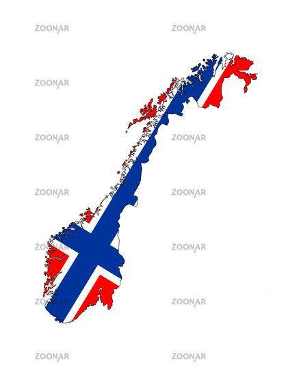 Photo Norway Flag Map Image - Norway map and flag