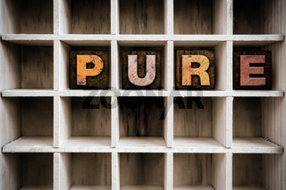 Pure Concept Wooden Letterpress Type in Drawer