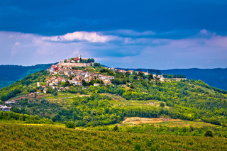 Town of Motovun on picturesque hill