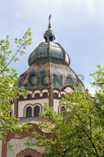The top of Synagogue in Subotica (Szabadka)