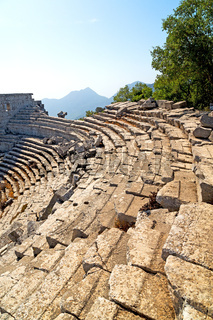 the old  temple and  termessos antalya