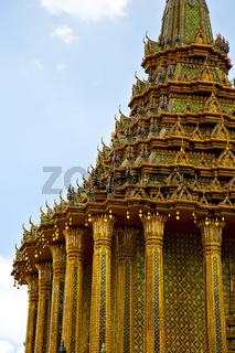 thailand  in  bangkok  rain   temple abstract    colors religion  mosaic