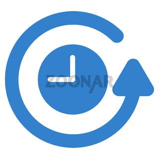 Restore Clock Flat Icon