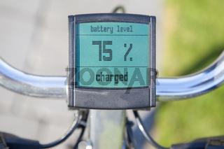 Electric bicycle display in the sun