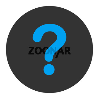 Question flat blue and gray colors round button