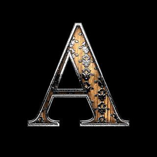 a silver letter. 3D illustration