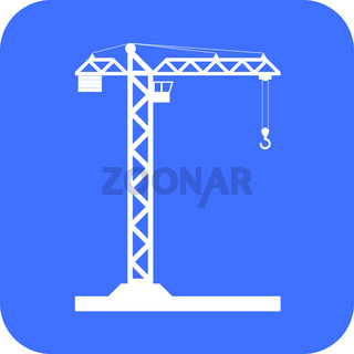 Building Tower crane icon
