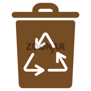 Trash Can Flat Icon