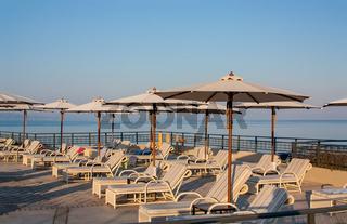 Poolside of a luxury resort