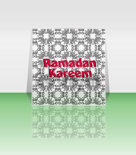 Calligraphy of Arabic text of Ramadan Kareem for the celebration of Muslim community festival.