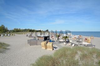 am Strand von Heiligenhafen an der Ostsee