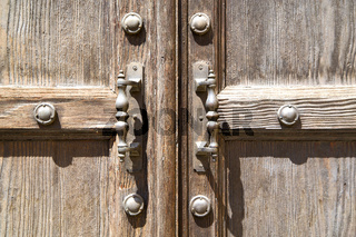 jerago abstract   in a  door curch  closed wood italy  lombardy