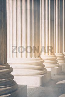 Pillars with Retro Instagram Style Filter