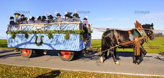 catholic horse procession in Bavaria, Germany
