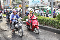 Road traffic in Saigon
