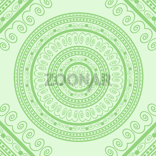 Green Circle Lace Ornament