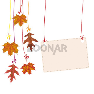 Hanging Autumn Foliage Banner