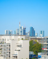Frankfurt skyline apartment buildings Germany