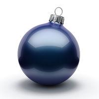 3D Rendering Dark Blue Christmas Ball