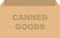 Canned Goods Donation Box Vector