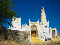 Exterior view of Aidaroos mosque, Tarim, Hadhramaut, Yemen