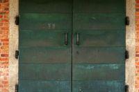Heavy church door