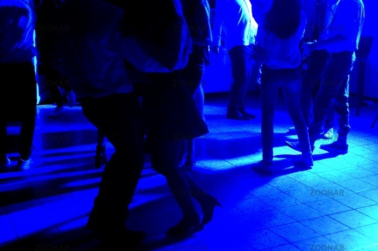 Disco dance, blue