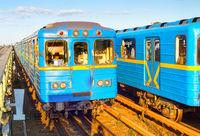 Kyiv metro underground train Ukraine