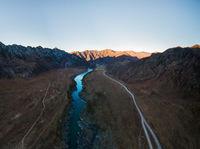 autumn valley of a mountain river