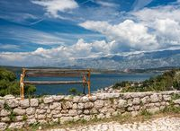 View from fortress above the Croatian town of Novigrad in Istria County