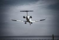 Plane in landing approach