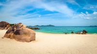 White sand beach. Vietnam. Panorama