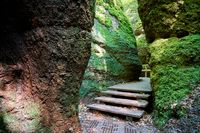Hiking Trail through the Dragon Gorge at the foot of the Wartburg near Eisenach
