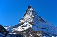Matterhorn, Mont Cervin,  with Hörnli Ridge, Hörnligrat, Zermatt, Valais, Switzerland