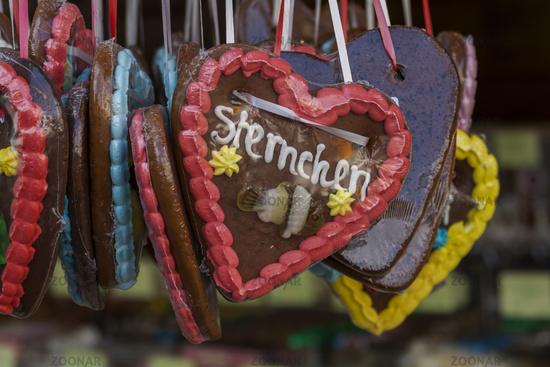 Gingerbread hearts at the fair