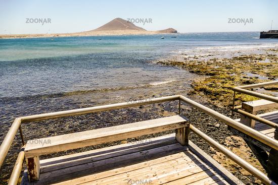 Ocean Coast's View in El Medano Tenerife South, Tenerife, Canary Islands