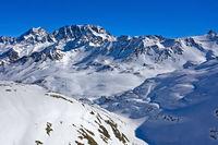 Tal Combe de Barasson beim Grossen St. Bernhard Pass