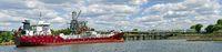 Tanker at tank ship harbor