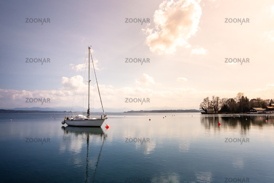 boat at Starnberg lake