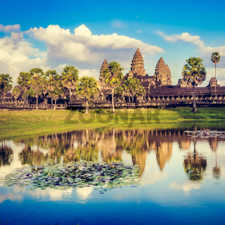 Angkor Wat temple at sunset. Siem Reap. Cambodia.